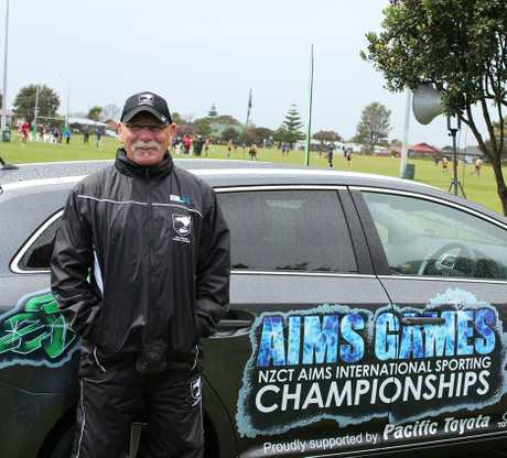 Len Reid from Bay Trust Coach Force is proud to see rugby league at the NZCT AIMS Games.