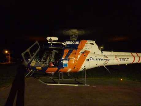 A seriously injured assault victim was flown to hospital by the TrustPower TECT Rescue Helicopter last night.