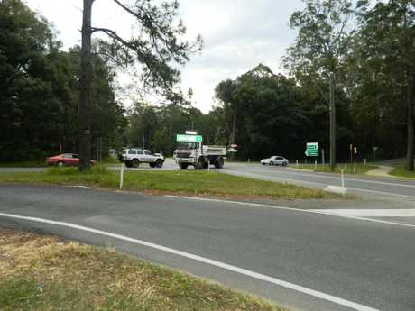 The intersection out the front of Beerwah State School that has residents concerned