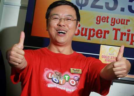 The owner of AJ's Lotto, Jensen Zeng.