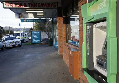 The Maunu Rd ATM, where Cathy Holman was brutally attacked and left on the ground in agony.