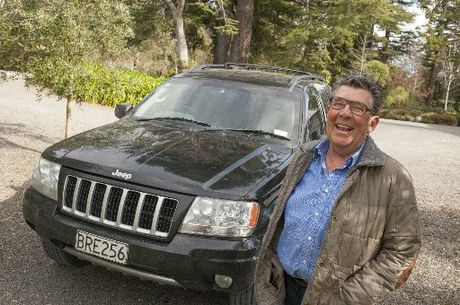 Paul Holmes with his Jeep Cherokee.