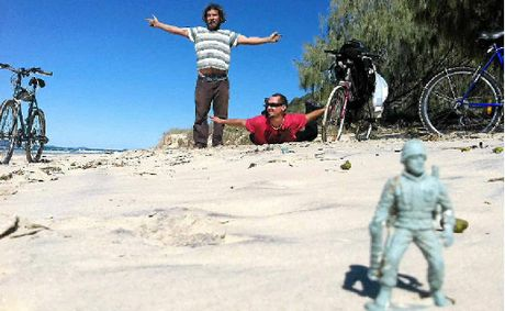 Three local musicians did a two-day trek from the Noosa North Shore to Double Island Point.