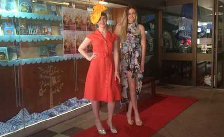Anna Shirley (left) and Brooke Parry helped launch the inaugural Carnival of Flowers Fashion Week.