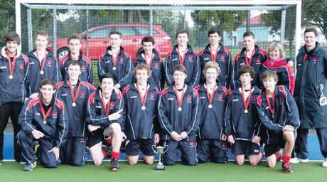 The champion Hastings Boys&#39; High first XI hockey team who broke a three-year hoodoo. Photo / Supplied
