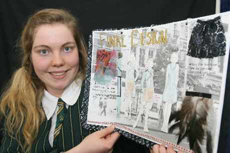NERVOUS: Year 13 student Olivia Sefton is a finalist in the Newmarket Young Fashion Designer Award 2012 competition. PHOTO/LYNDA FERINGA