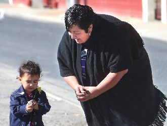 Rotorua beneficiary Chanz Mikaere, pictured with daughter Pia, 2, believes parents are the best first teachers for their kids.