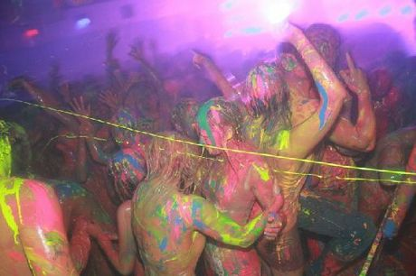 Heaven &amp; Hell&#39;s first paint party held in April.