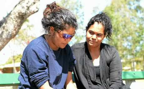 Tilleala Leisha (left) pictured with her mother Shirmona Barlow, was one of four people left in Yeppoon when a bus driver failed to stop for them.