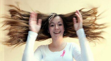 Napier teen Rachel Bird, 16, is going to shave her waist-length hair to raise money for the Breast Cancer Foundation. Photo / Duncan Brown