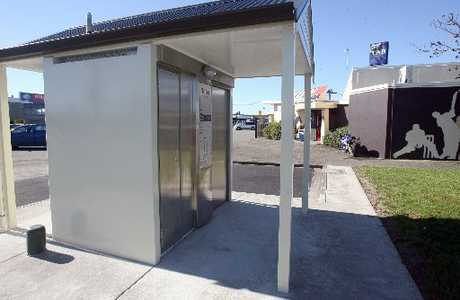 HERE AT LAST: The new Exeloo toilet is up and running at Kuripuni shopping centre. PHOTO/LYNDA FERINGA