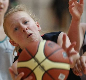 DETERMINED: Jasmine Creighton from Tauranga Intermediate in action at the Aims Games.