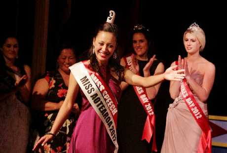 SUCCESS: Marlena Martin, from Rotorua, was crowned Miss Aotearoa 2012 at Napier's Tabard Theatre. PHOTO/WARREN BUCKLAND HBT123801-03