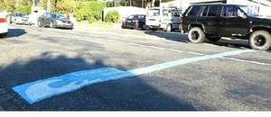 Blue lines in Wellington streets mark evacuation paths in the event of a tsunami. Local Tsunami Survive project co-ordinator Katharyn Roxburgh said the lines were a highly visible way to get the message across.