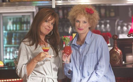 Gina Riley and Jane Turner as Kath and Kim in a shot from Kath and Kimderella.