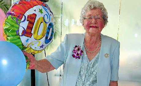 Edna Marshall celebrates her 100th birthday in style at Peregian Springs Golf Club.