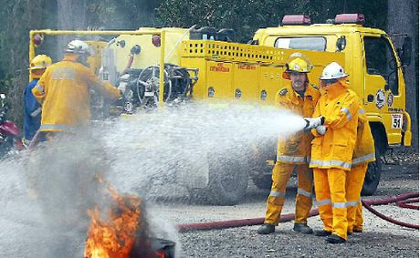 Tinbeerwah Rural Fire Brigade members train as they prepare for what firefighters believe will be a severe fire season.