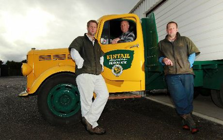 Live bee exporters and honey producers Damien (left), James and Jason Ward from Kintail Honey in Takapau.