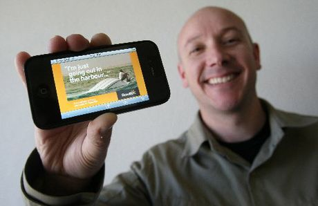 Ian Wills has created an app to help boaties report to the coastguard as part the Tauranga StartUp Weekend.