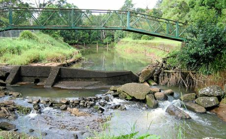 SOLUTION SOUGHT: The Bangalow weir earlier this year.