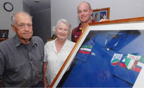 Mick and Val Rovelli are proud their grandson Grant Rovelli is representing Italy.