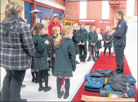 Room 1 students from Inglewood's St Patrick's School last week got an in-depth view on the Taranaki Rescue Helicopter's operation.
