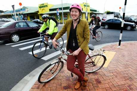 Kimberley Cleland is among the people taking to their bikes in support of the Bay of Plenty Regional Council's Car Free Week.