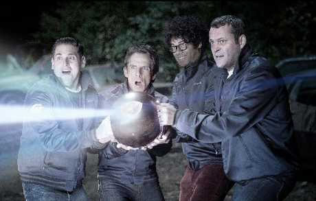 Jonah Hill, Ben Stiller, Richard Ayoade and Vince Vaughn battle aliens in The Watch.