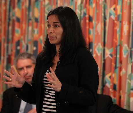 Tania Hopmans is deputy chairwoman and lead negotiator for Maungaharuru-Tangitu Incorporation and explained the history of the claim the hapu is negotiating with the Crown at the Te Pohue meeting.