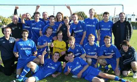 PERFECT ENDING: Napier City Rovers savour their maiden Federation Cup title at Marewa Park, Napier, on Saturday.