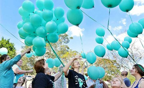 Dementia campaigners and supporters gathered in Queens Park on Saturday to release coloured balloons in support of Alzheimer's Queensland.