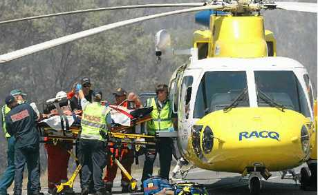 RACQ Capricorn Helicopter Rescue Service at another accident.