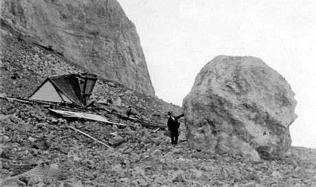 ONE TO AVOID: Bluff Hill and some of the rubble which hurtled down, large and small, as a result of the 1931 Hawke's Bay earthquake. PHOTO/VALDA COLWILL