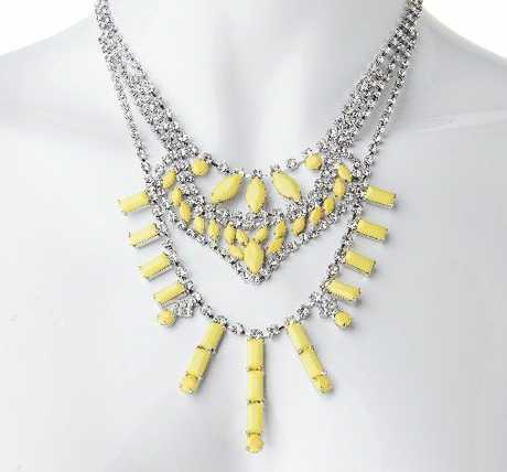 Yellow statement necklace, $19.99, from Diva.