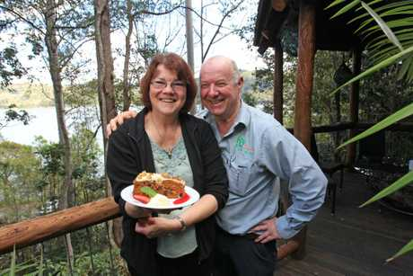 George and Aldy Johnston, owners of Secrets on the Lake, were the winners of the Range Restaurant Awards as part of the Real Food Festival on the weekend and their cafe that they started up at the start of this year as an extension of their accomodation business. Photo: Cade Mooney / Sunshine Coast Daily