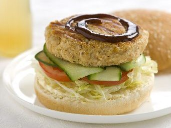 Chicken burgers are a quick and easy meal.