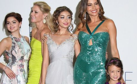 The female cast of Modern Family at the Emmy Awards.