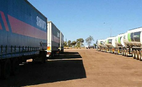 TIME TO REST: Truckies pull over for a rest at a truck stop in the outback.Photo: File
