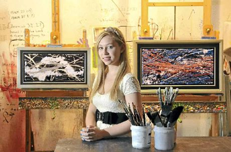 Chloe Harts paintings have already attracted interest and she is hoping to combine that with a writing career.