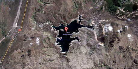 Google Earth image of Lake Moawhango 