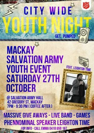 Come along to a phenomenal evening.There will be a live band, games and massive give aways.Guest Speaker Leighton Time.