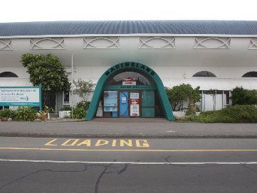 The Marineland building on Marine Parade, Napier.