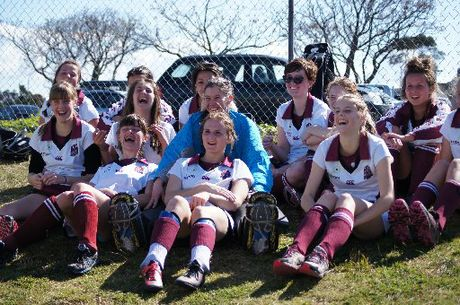 Te Puke High School's girls' hockey team came second in the Baywide competition. Photo / Supplied