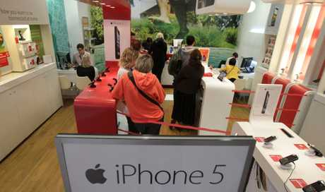 The iPhone5 went on sale this morning at Vodafone Bayfair.