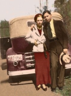 PARTNERS IN CRIME: A Christchurch couple were described as a pathetic imitation of American gangsters Bonnie and Clyde (above).