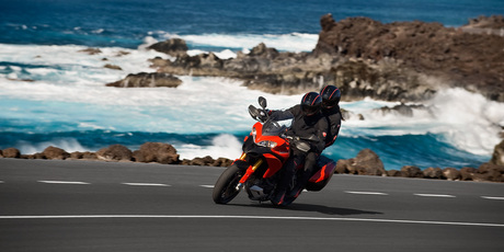 Superbikes such as the Ducati Multistrada 1200 are generally the domain of cashed up, middle-aged men, and spend the majority of their days in their owner's garage.