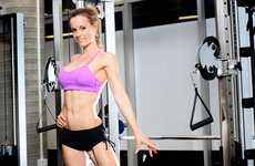 Queensland Natural Body Building title winner Jade McKee training at her gym Body Boutique.