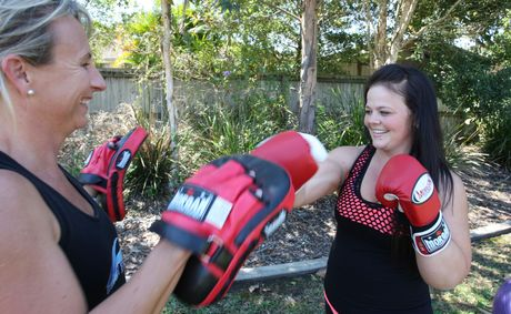 lesley McLean has lost more than 50kg in the past year with the help of trainer Susan Wiggins.
