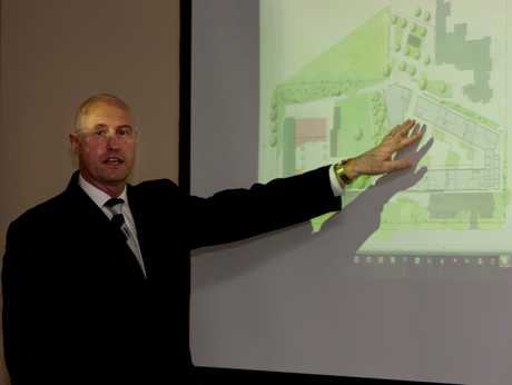 Te Puke High School pricipal Alan Liddle unveils news plans to rebuild the school.