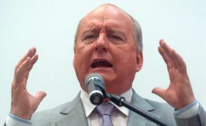 Alan Jones is no longer welcome at a Murwillumbah rally.